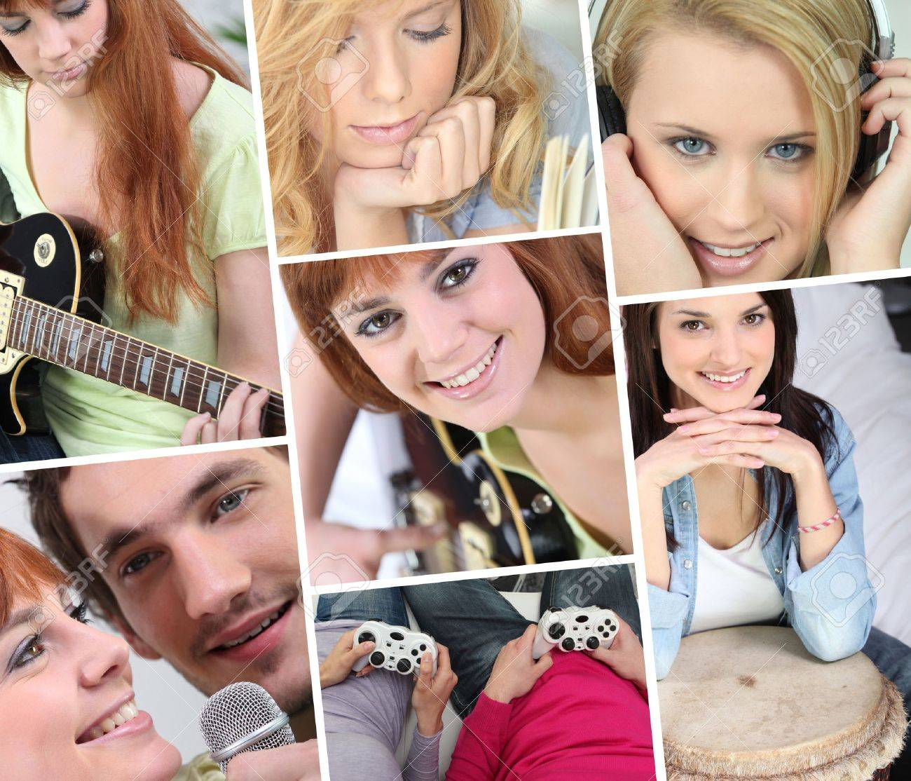 A collage of adolescent girls Stock Photo - 11913534