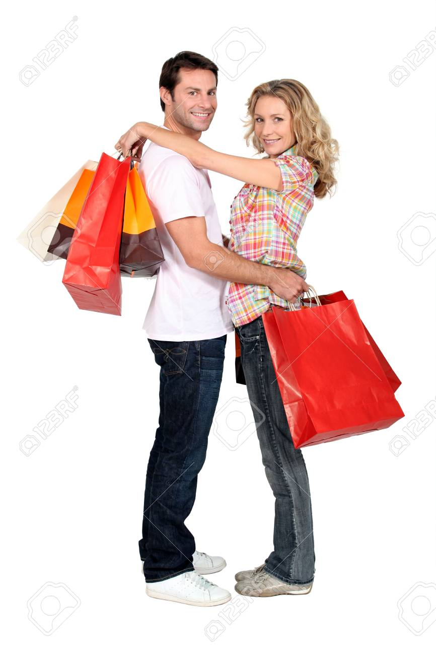 Couple with store bags Stock Photo - 11948021