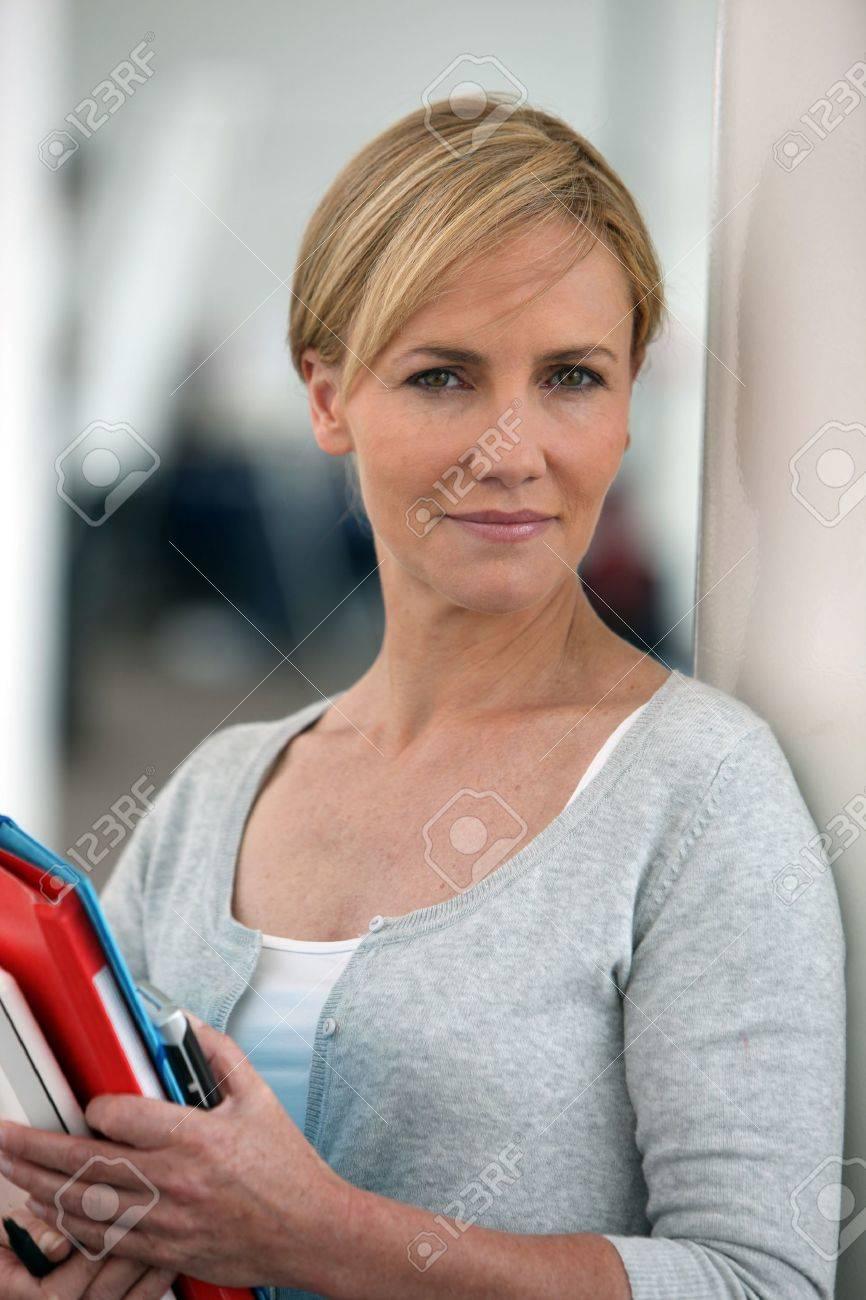 Female mature teacher
