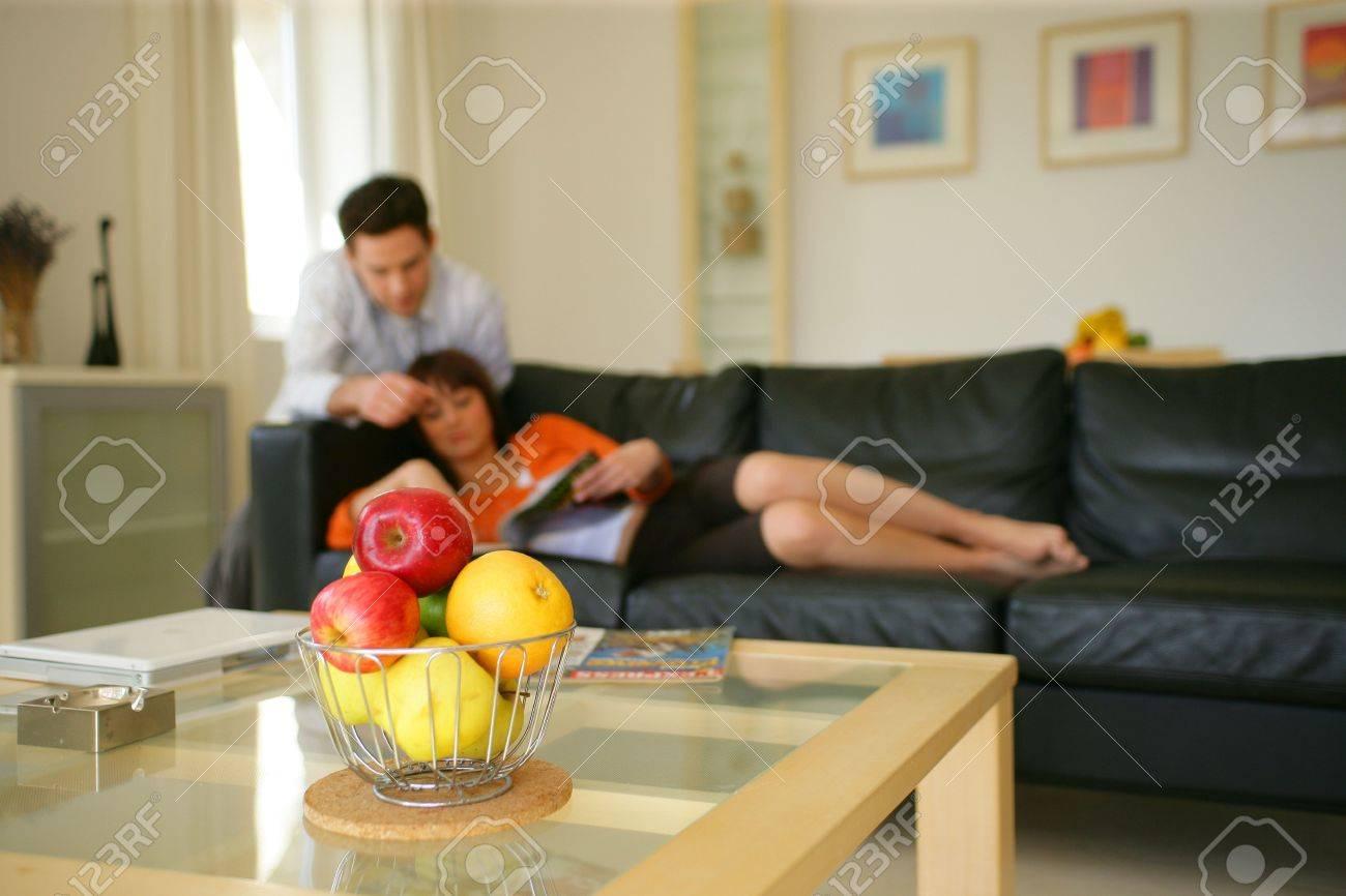 Couple lounging around Stock Photo - 12007844
