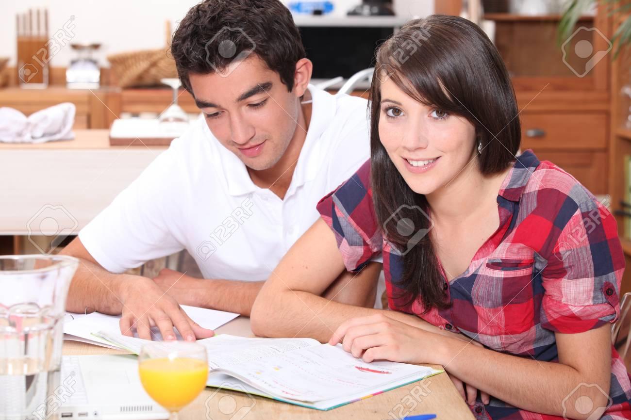 Teenagers studying Stock Photo - 12103709