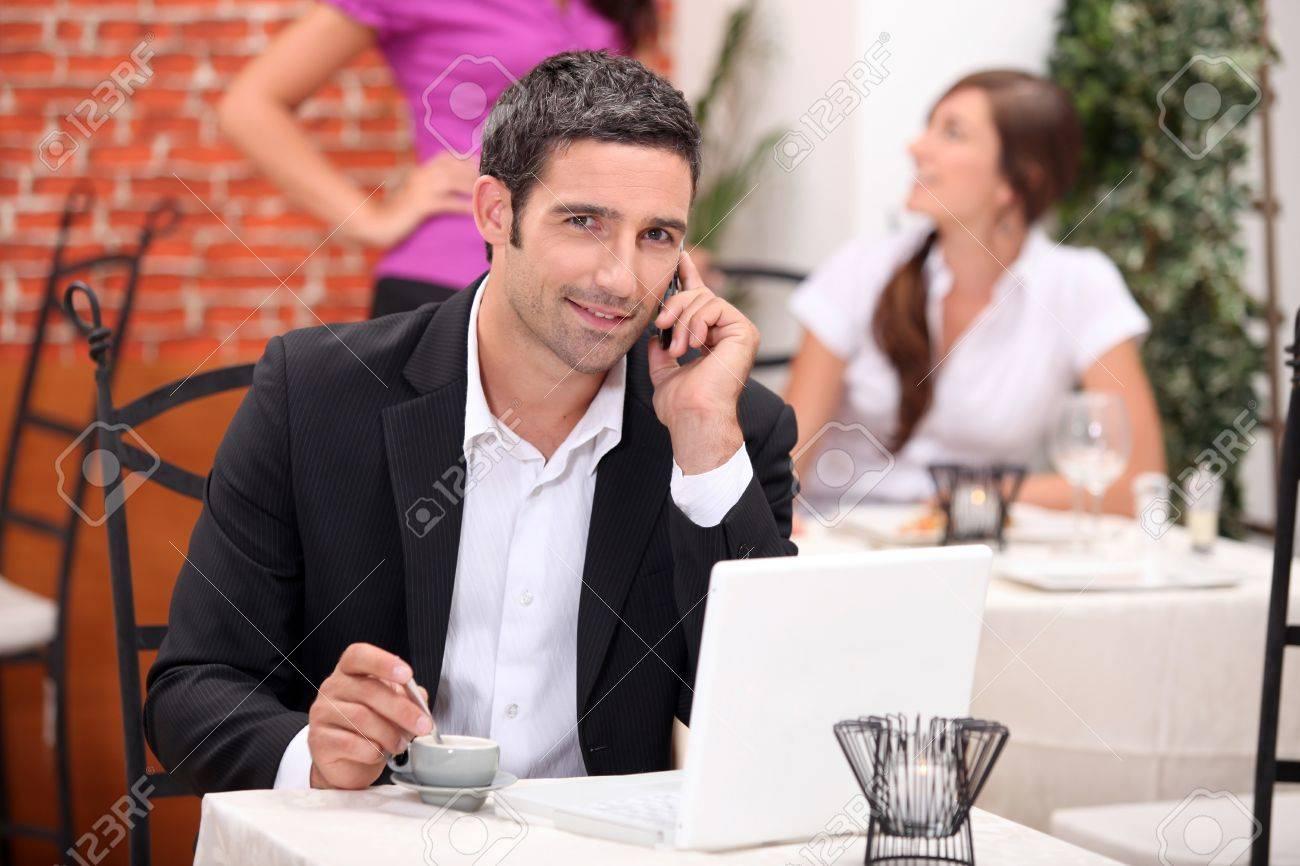 Executive having a coffee. Stock Photo - 12006134