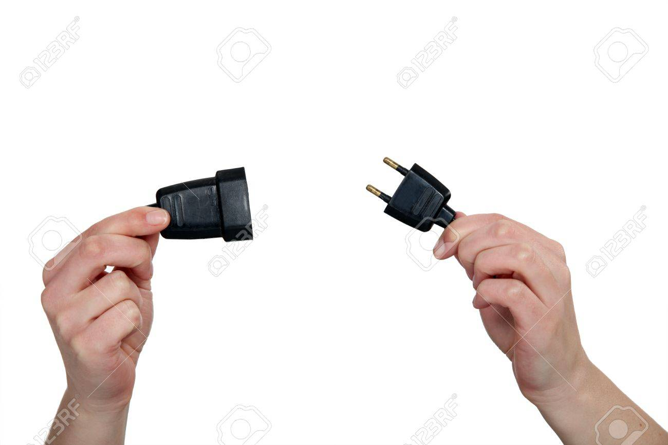 Hands Holding Two Prong Plug Stock Photo, Picture And Royalty Free on how electrical plug wiring, how wire trailer plug, wiring plug to plug, wiring a 3 wire plug,