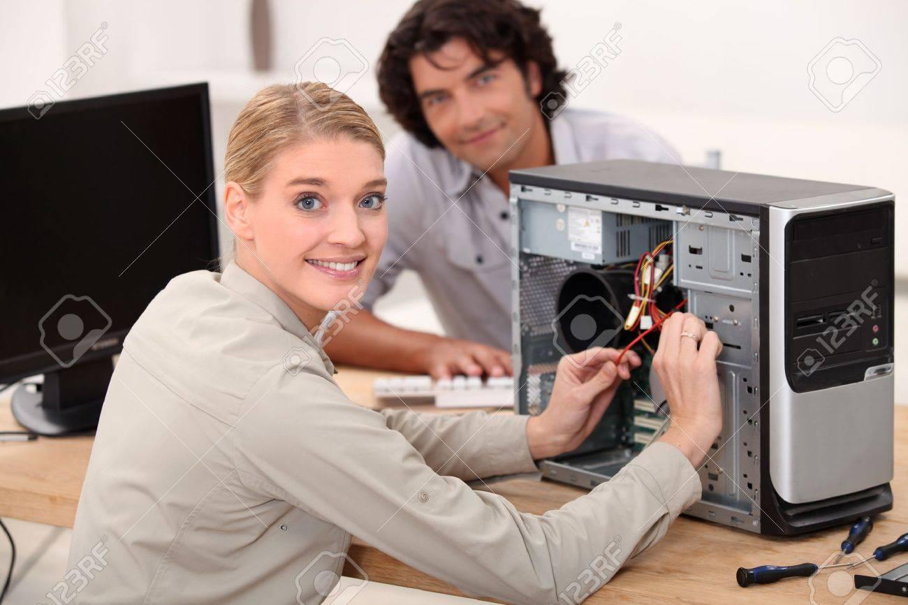 portrait of a female technician Stock Photo - 12218161