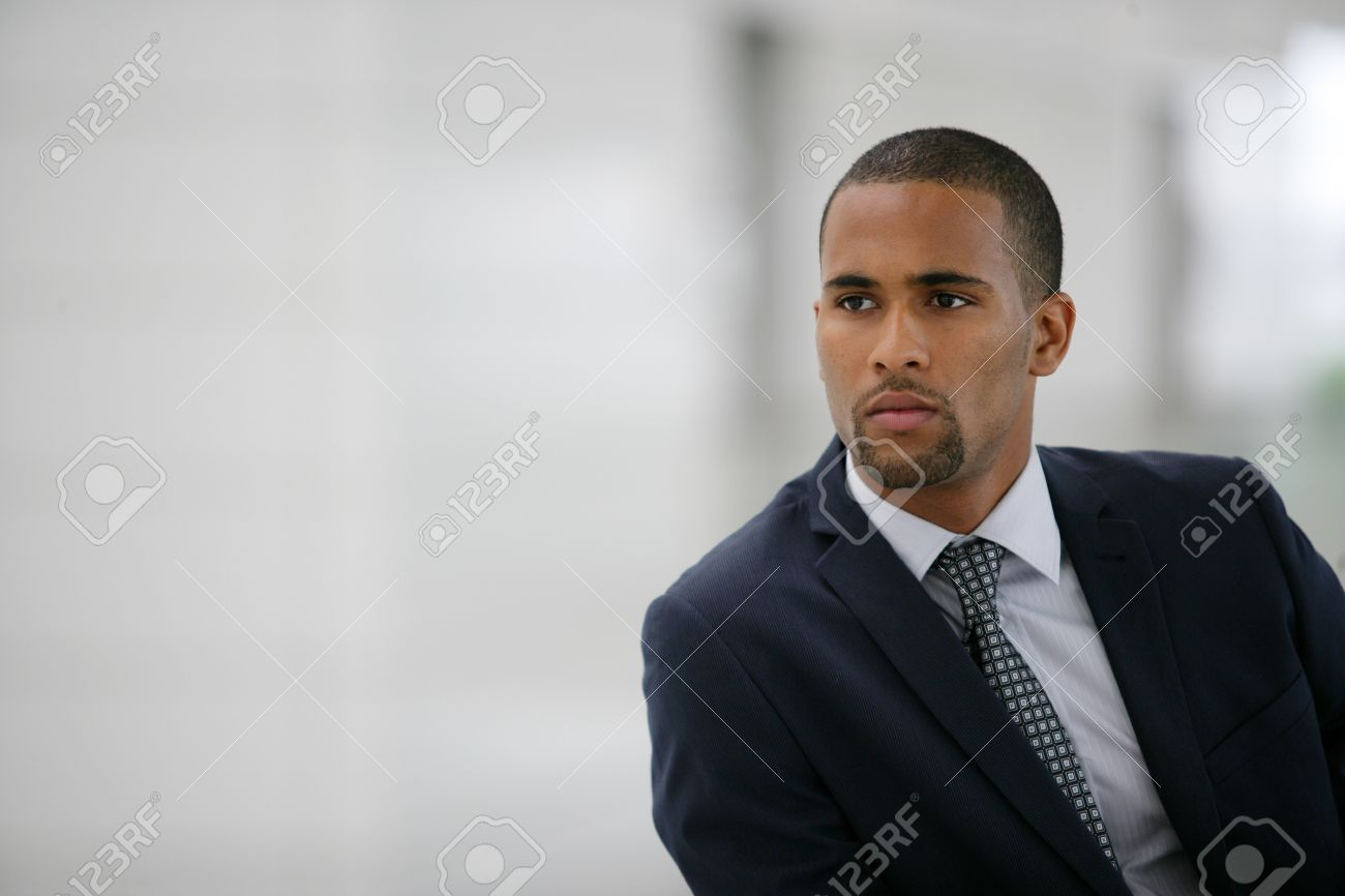 Portrait of a young Afro businessman Stock Photo - 12218907
