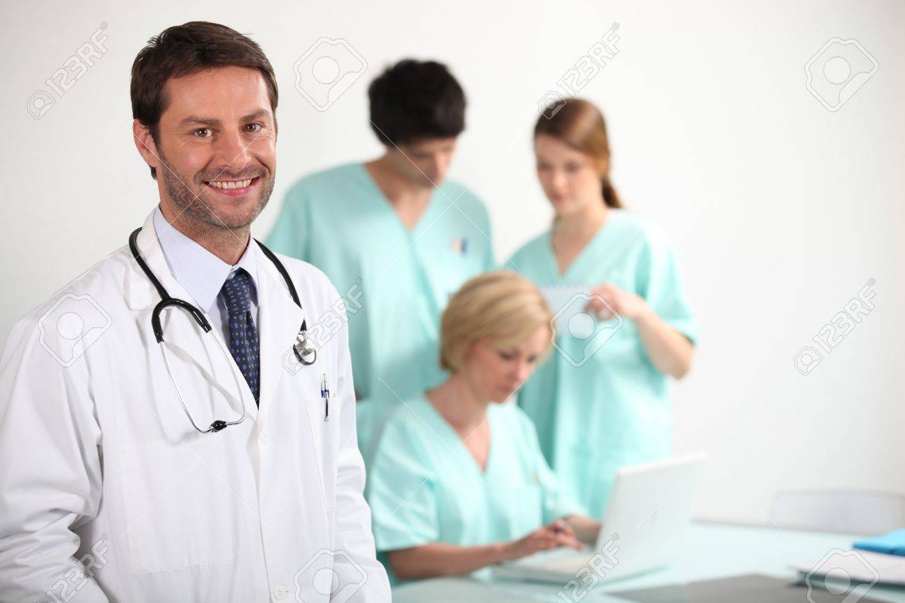 Doctor and nurses Stock Photo - 12219165