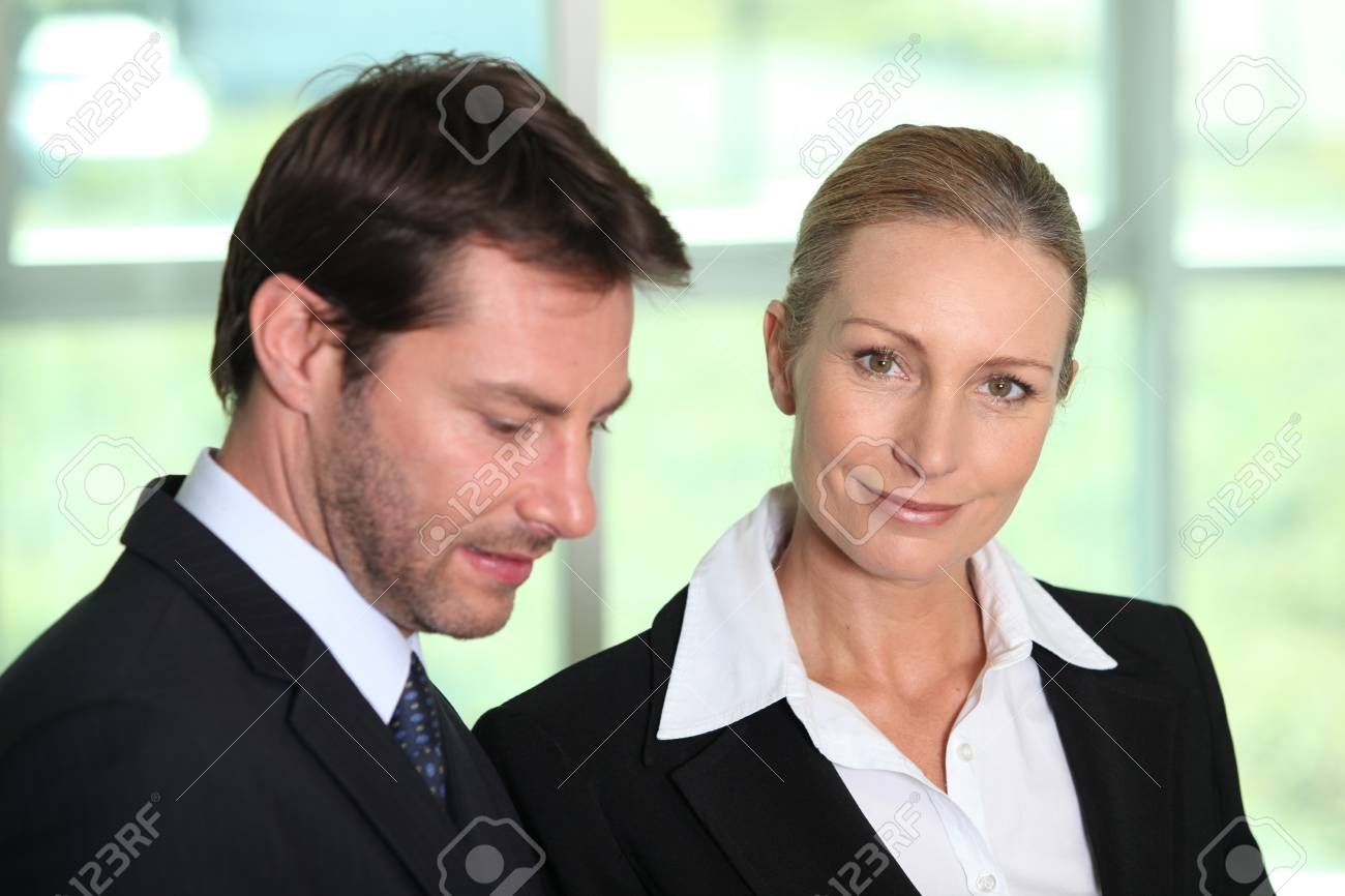 Businessman and woman Stock Photo - 12248118