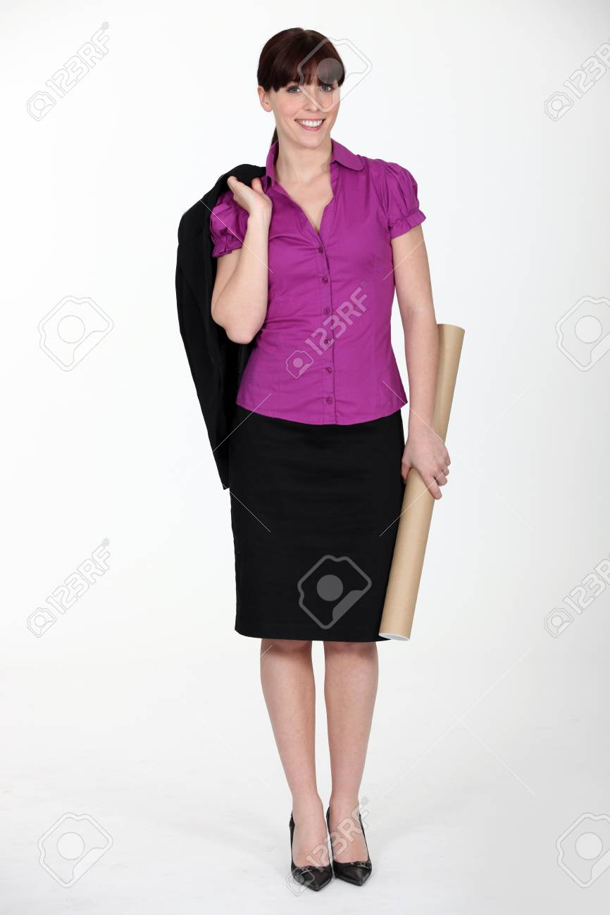 female architect Stock Photo - 12246259