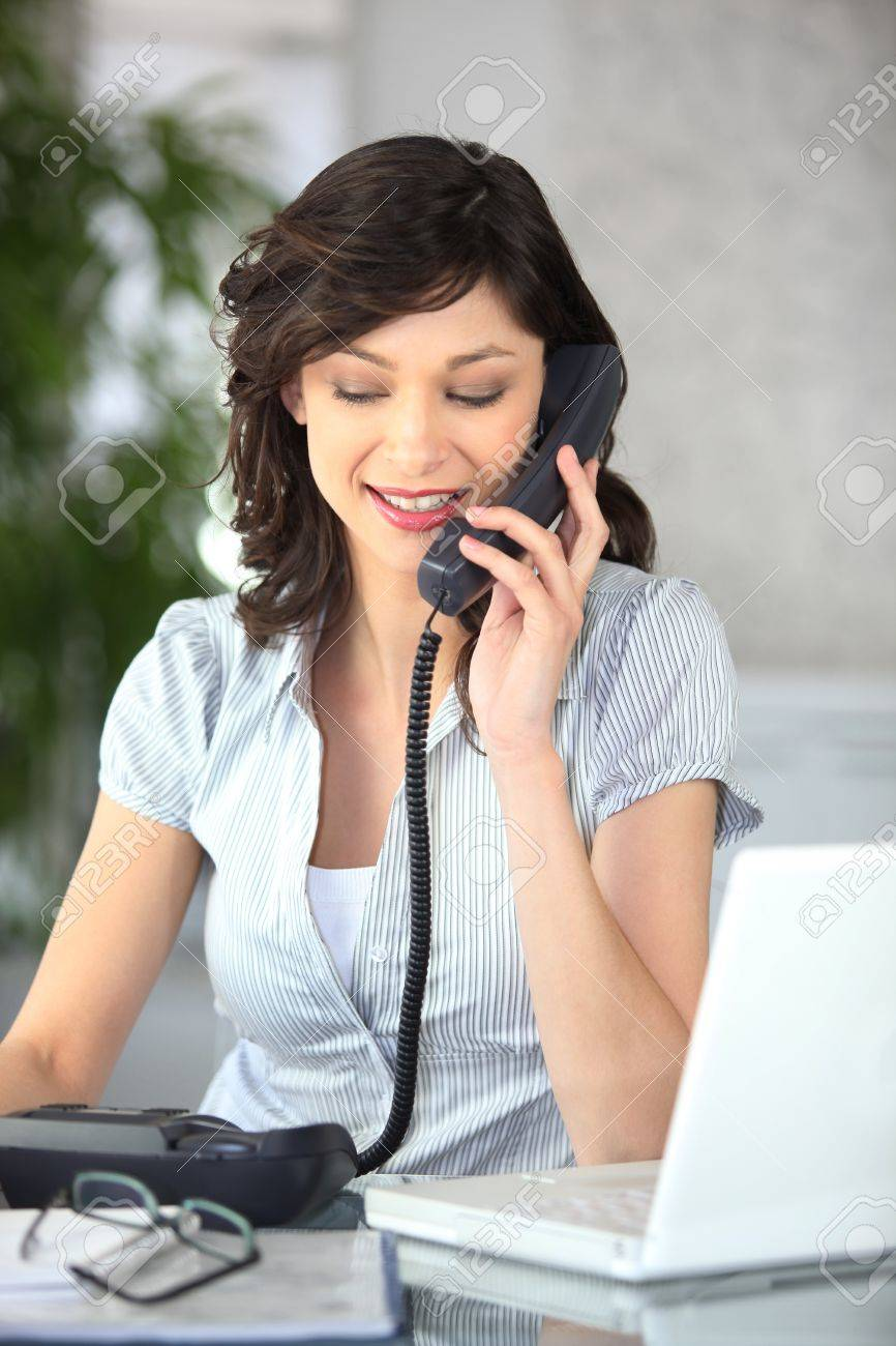 Female receptionist Stock Photo - 12249793