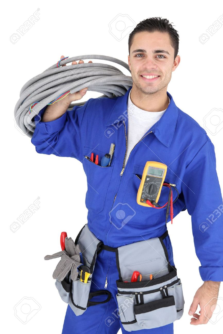 Handsome Electrician Stock Photo, Picture And Royalty Free Image ...