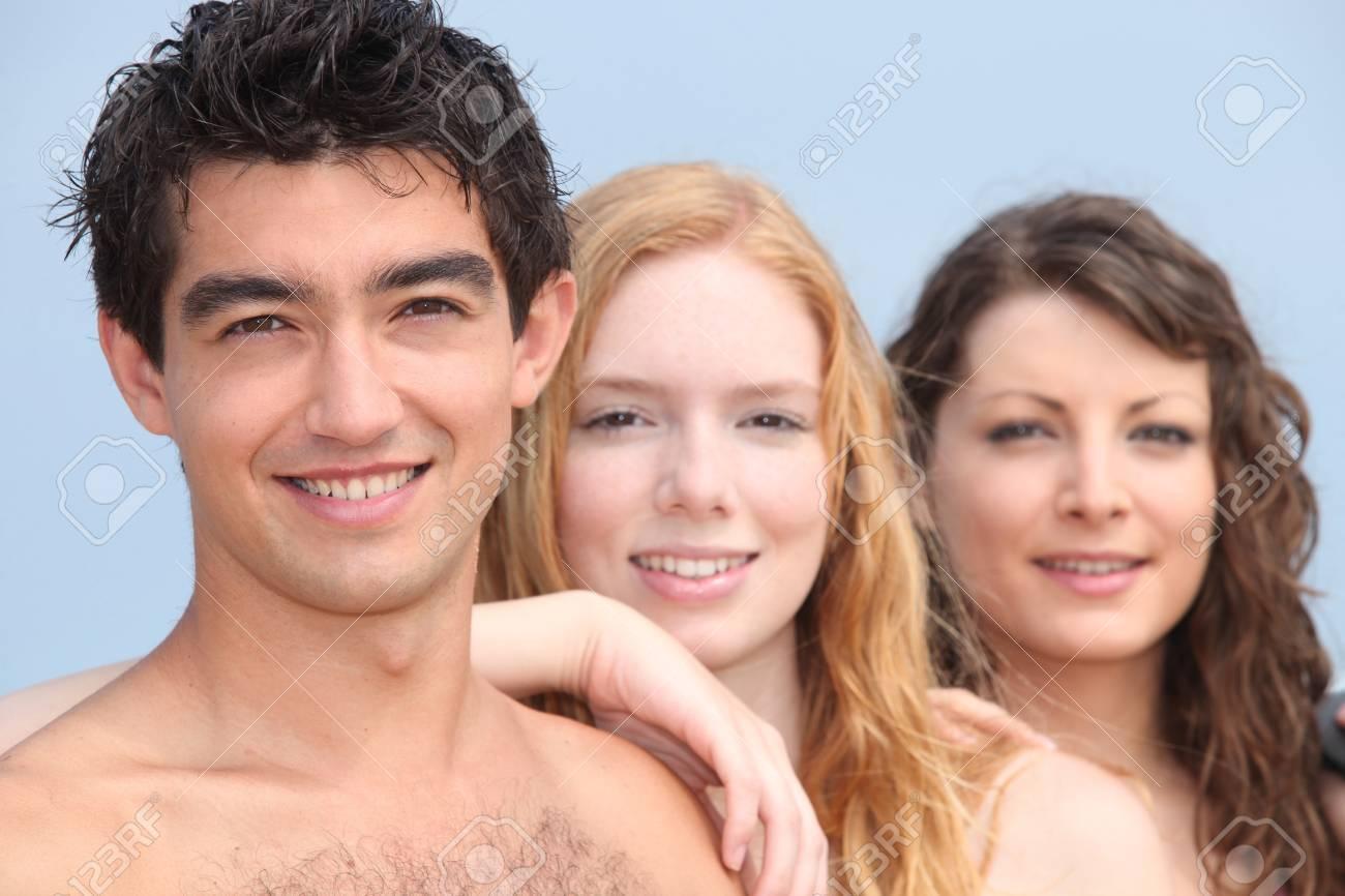 Teenagers outside Stock Photo - 12302515