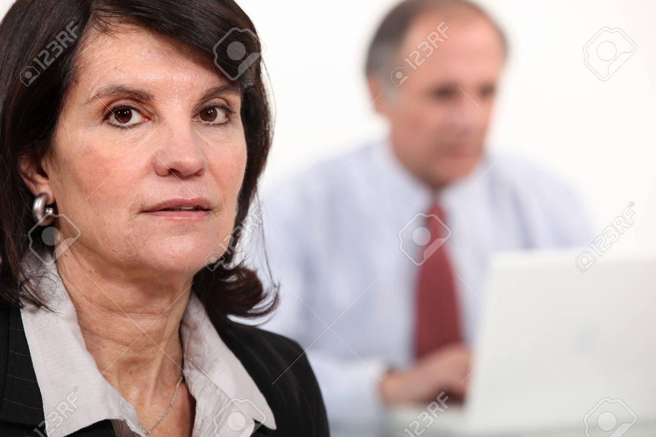 Bored and tired woman at work Stock Photo - 12365966