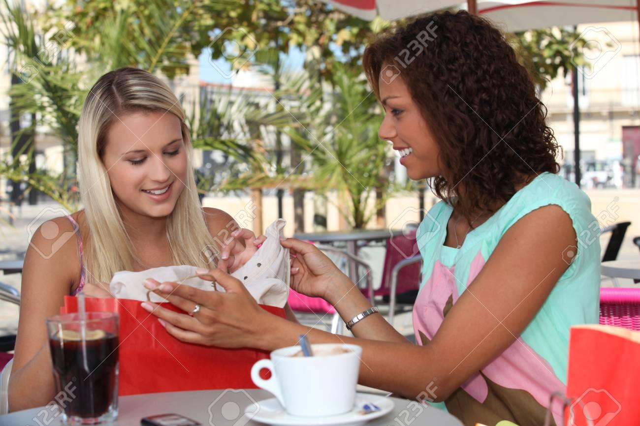 Girlfriends on a weekend shopping trip Stock Photo - 12366036
