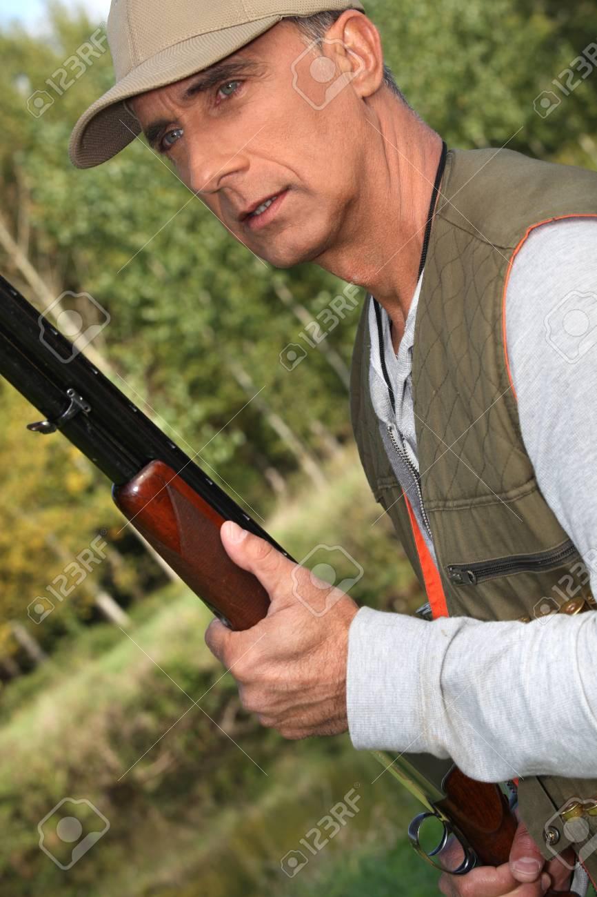 Hunter with a shotgun Stock Photo - 12597931