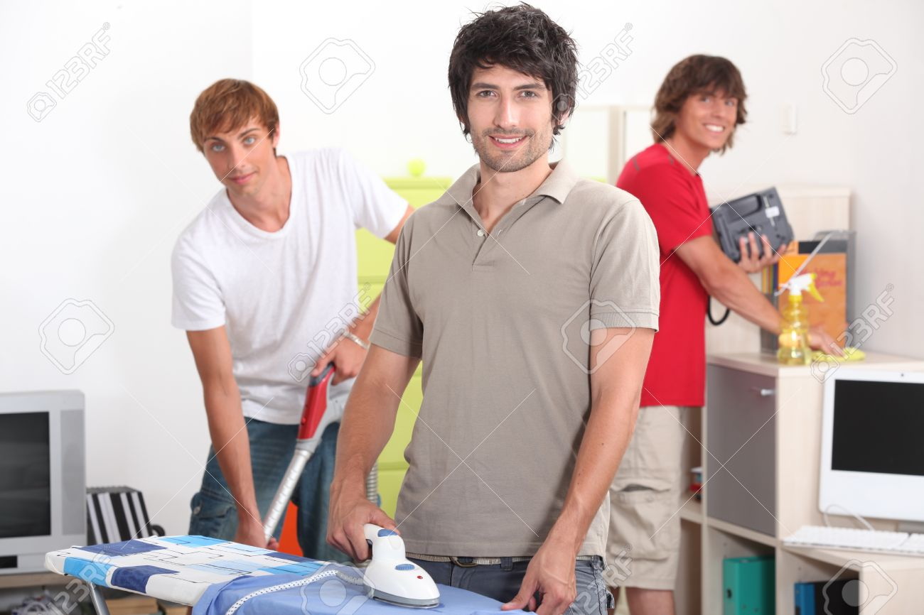 Guys cleaning Stock Photo - 12762461