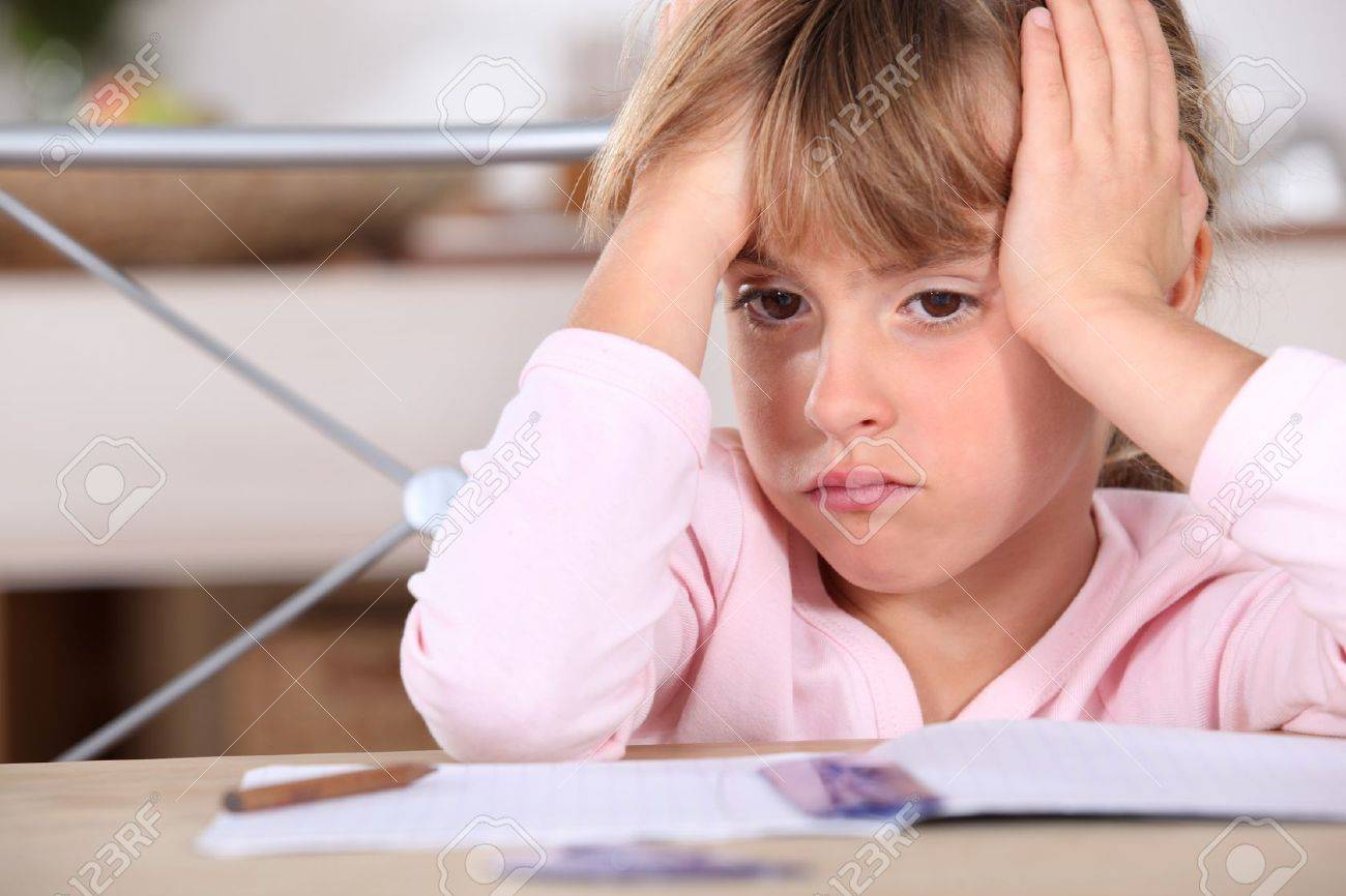 A frustrated young girl Stock Photo - 12907319