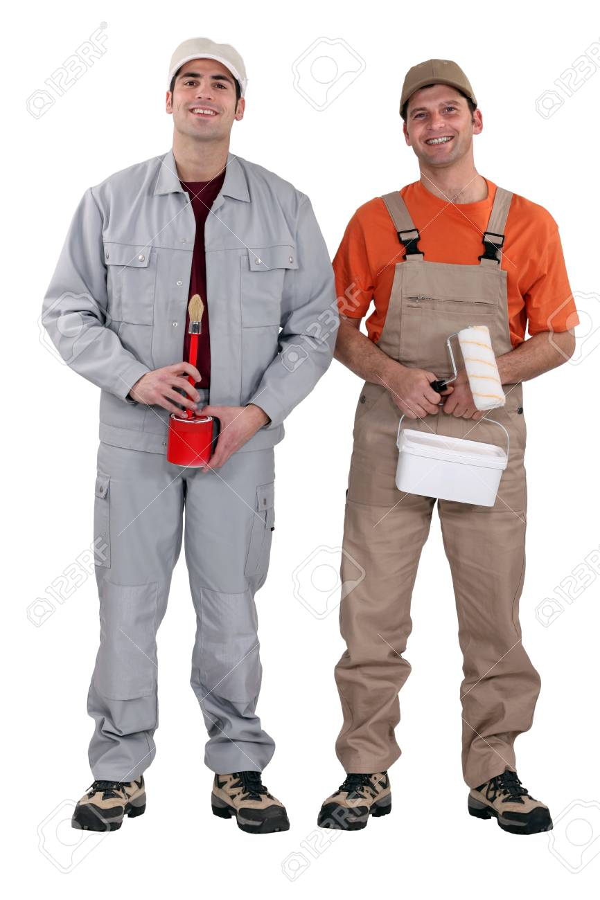 A team of painters standing side-by-side Stock Photo - 12479748