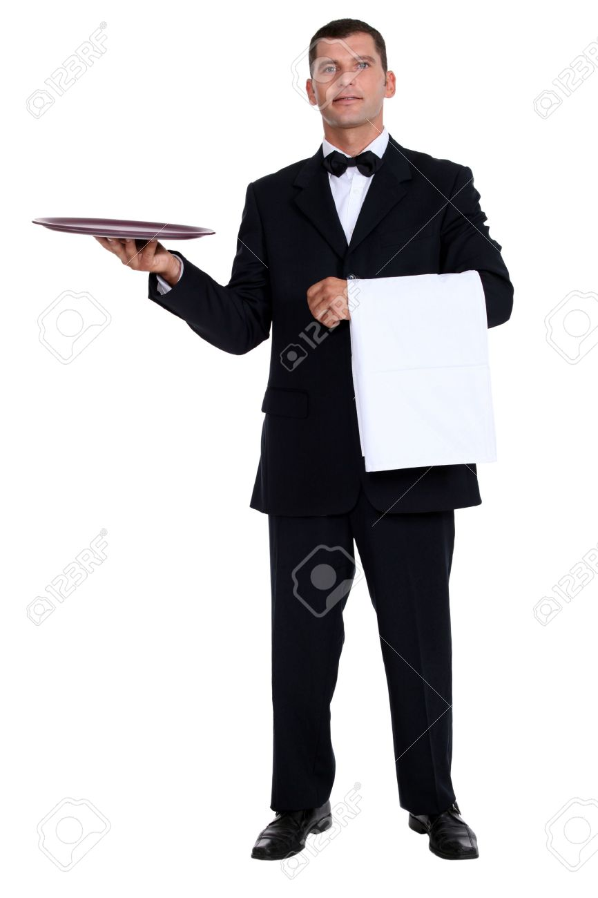 male waiter holding tray stock photo picture and royalty free