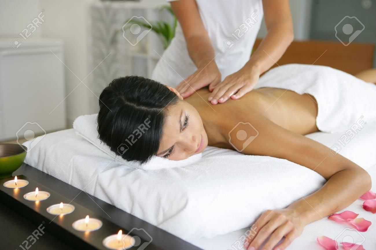 Woman having a massage Stock Photo - 12529984