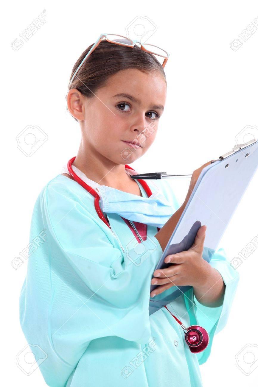 b2f29cbd3eb portrait of a little girl in nurse uniform
