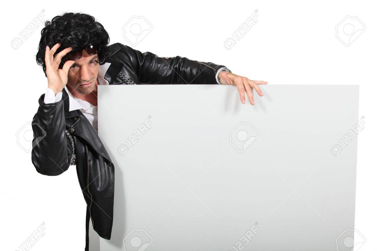 Man dressed in old biker outfit Stock Photo - 13378949