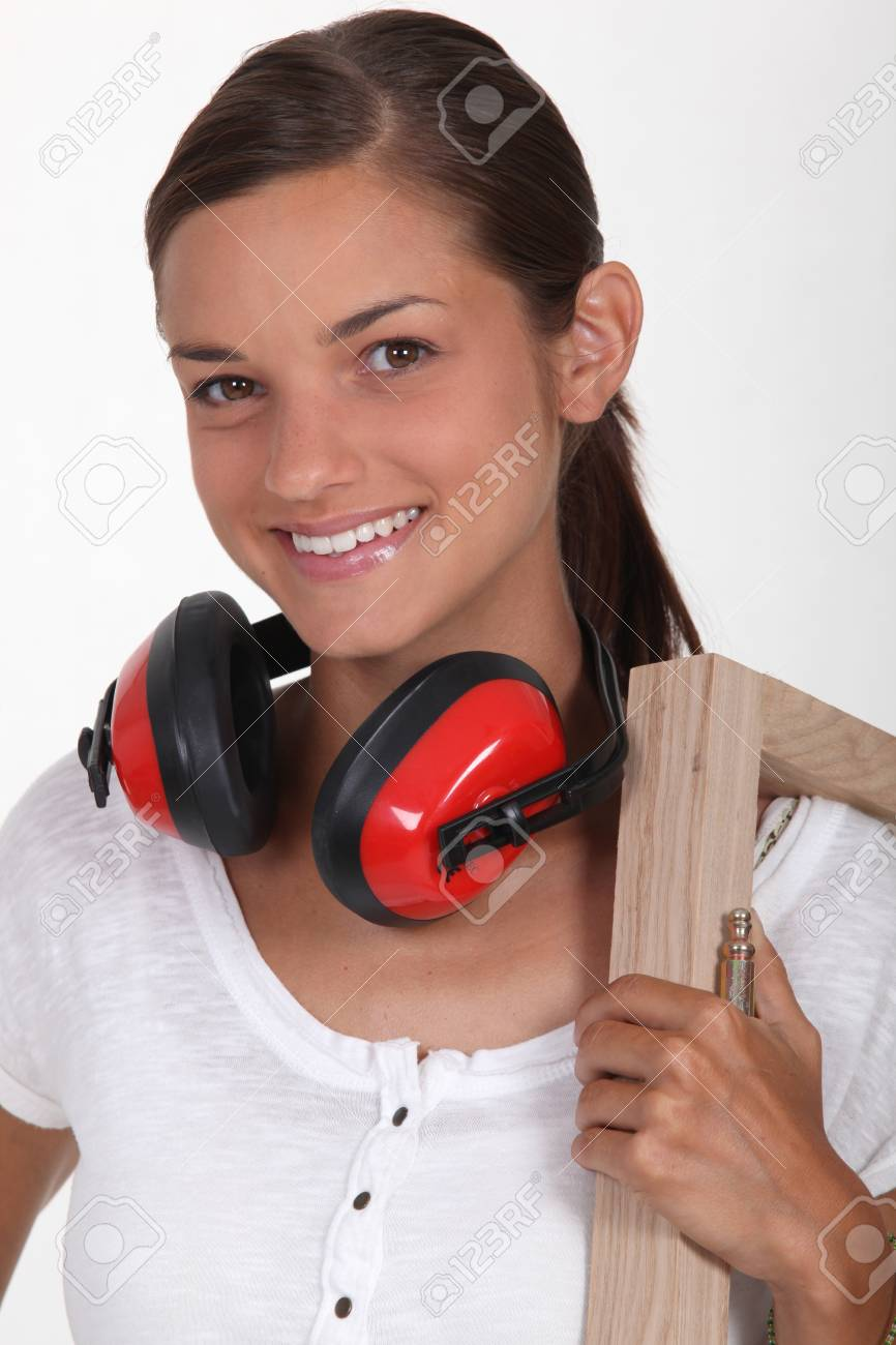 Young woman with frame Stock Photo - 13459055