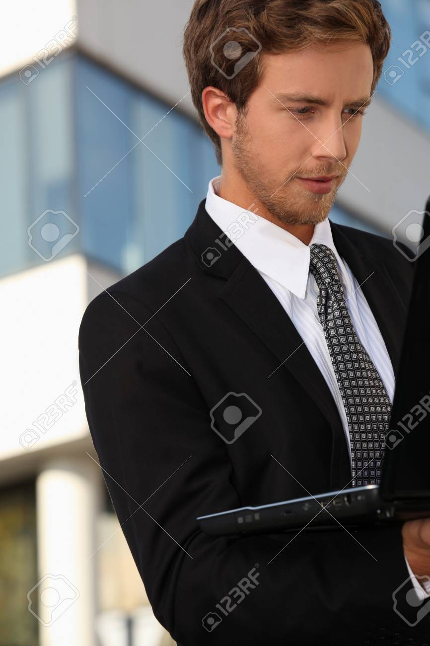 young executive working Stock Photo - 13582829