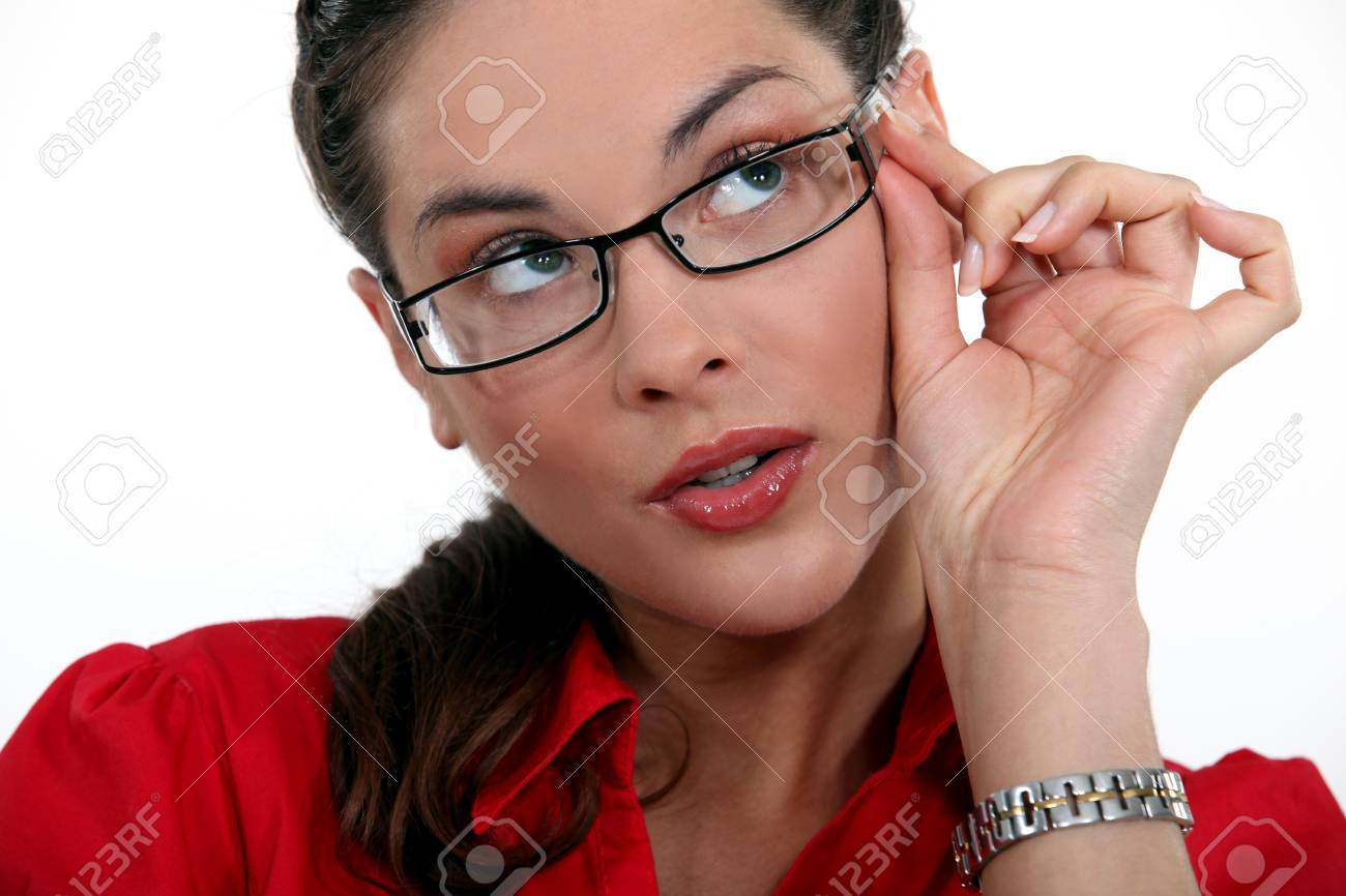 A cute brunette Stock Photo - 13583043