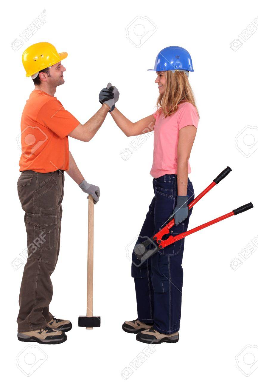 Construction couple Stock Photo - 13804000