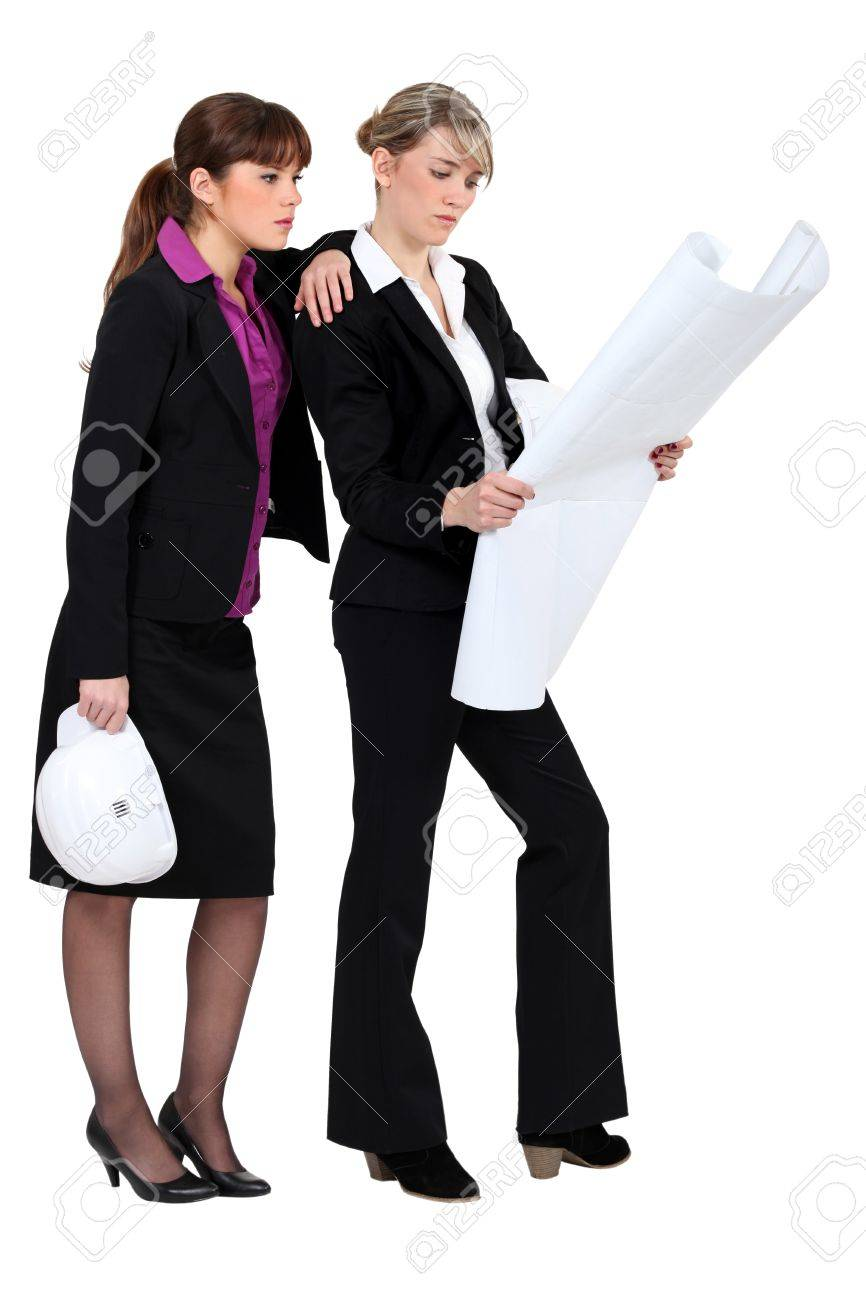 Two female architects. Stock Photo - 13827540