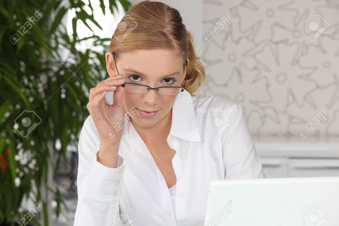 Confident secretary Stock Photo - 13899016