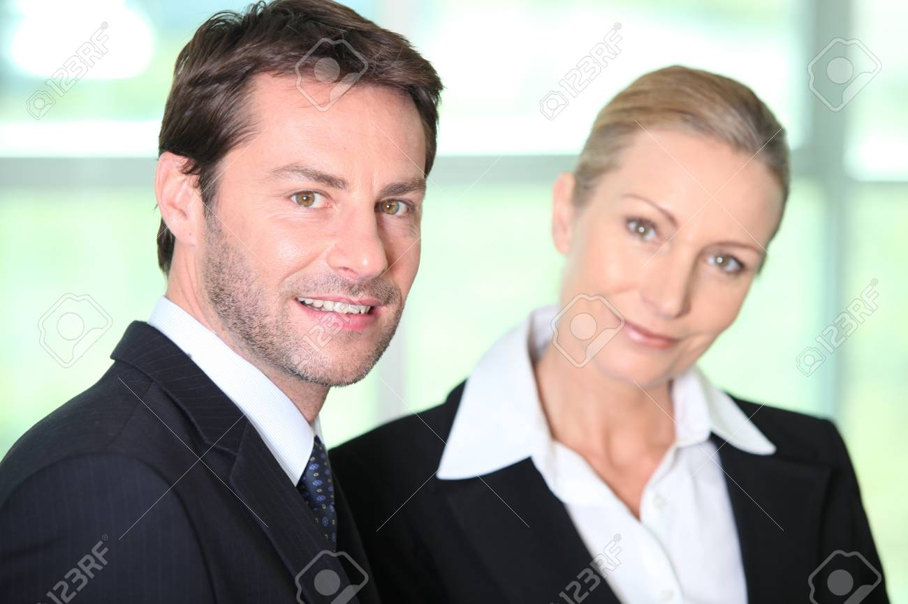 Businessman and woman Stock Photo - 13879920