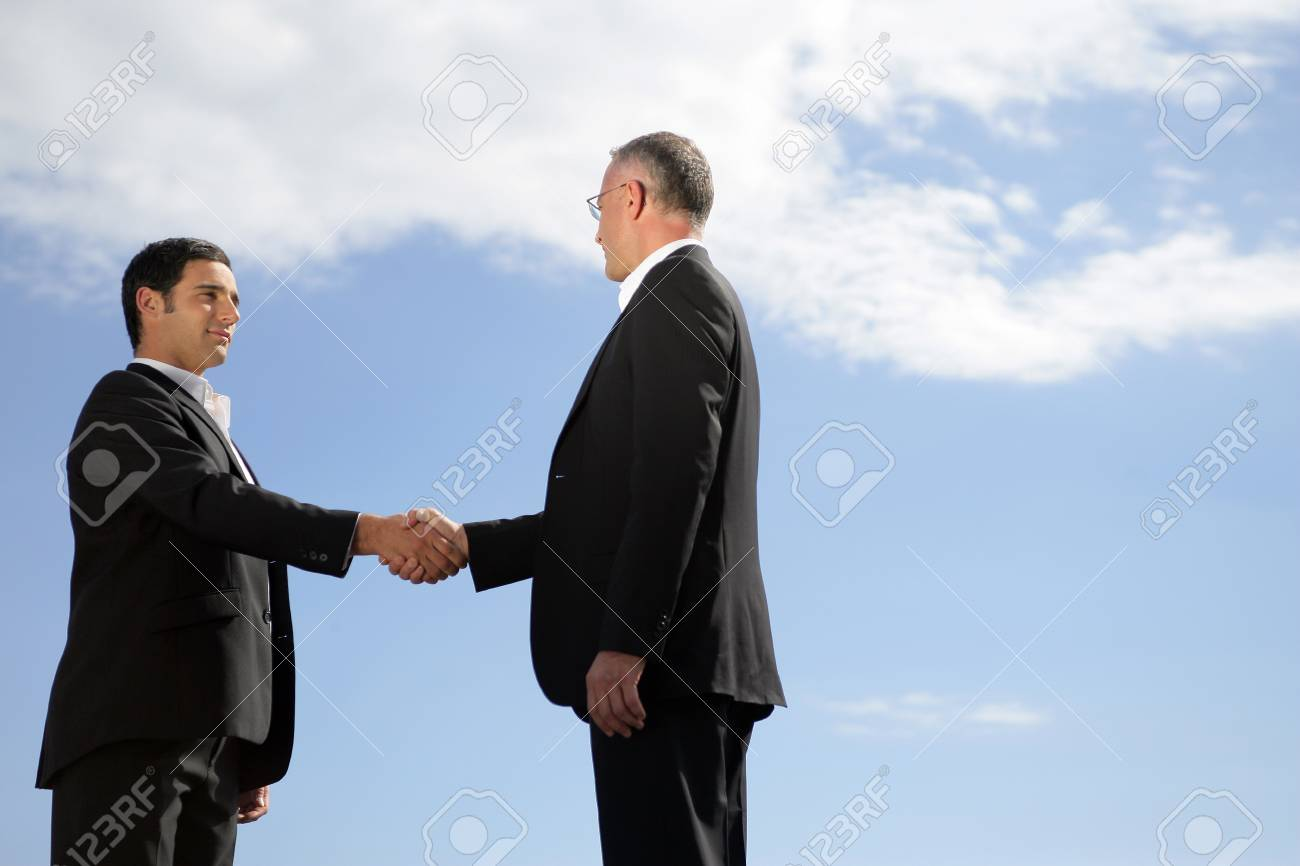 Men shaking hands Stock Photo - 13828079