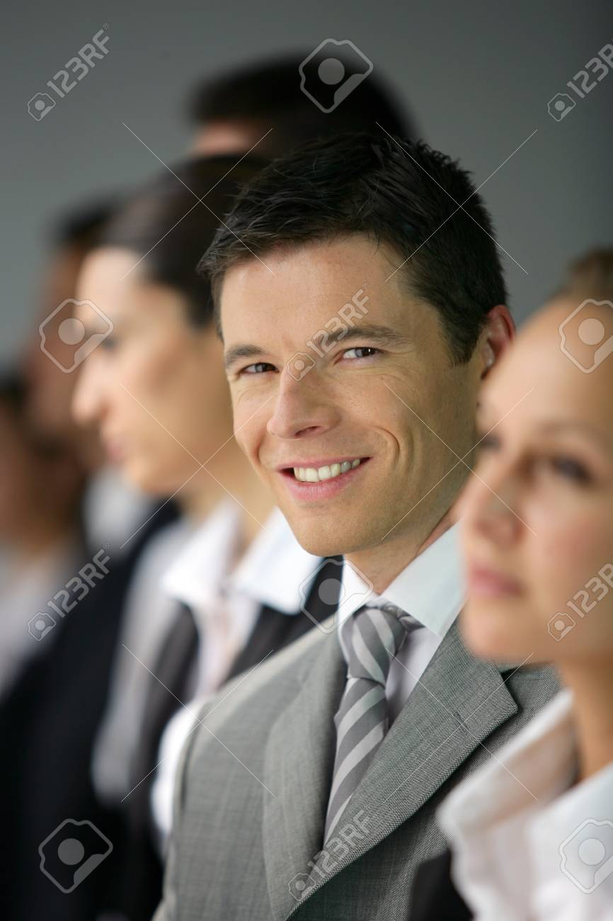 Businesspeople stood in a row Stock Photo - 13828239