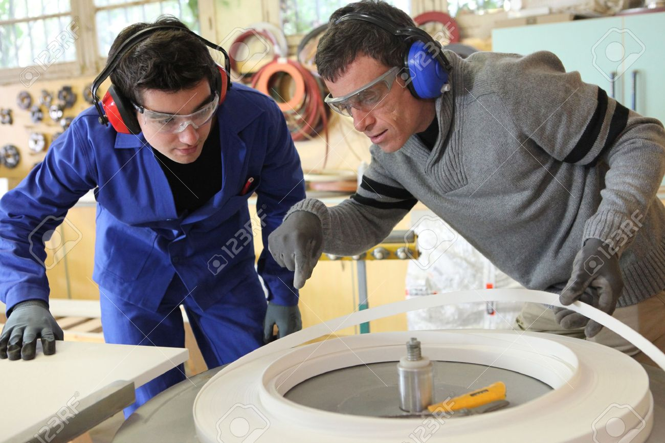 Men working in a factory Stock Photo - 13839697