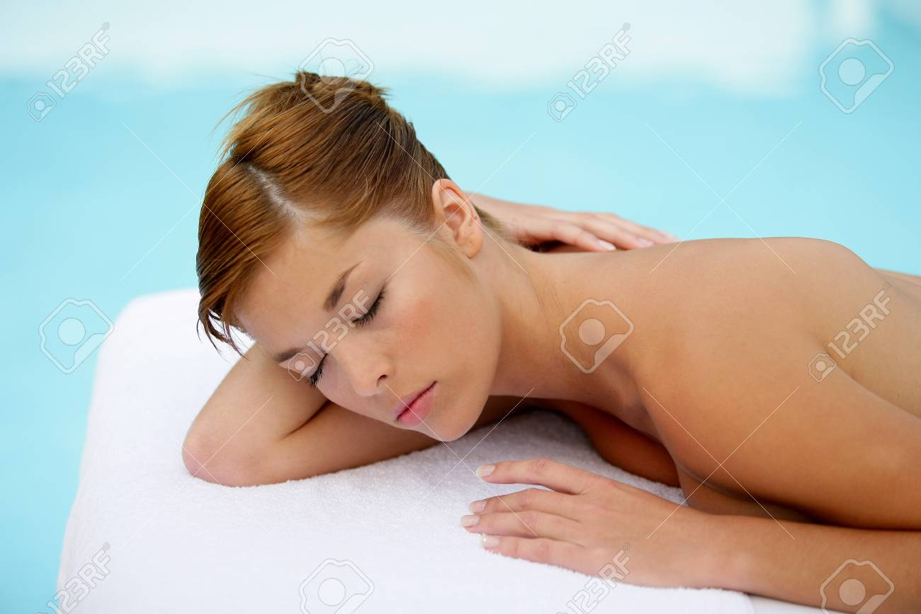Woman relaxing on massage table Stock Photo - 13868307