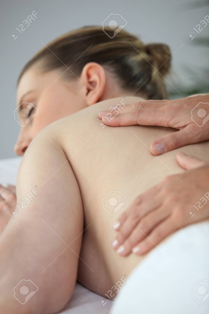 Woman having a back massage Stock Photo - 13875709