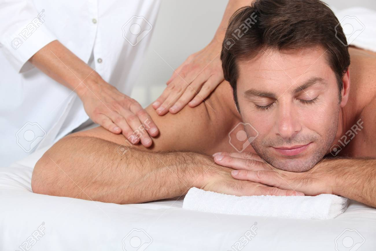 man having a massage Stock Photo - 13863992