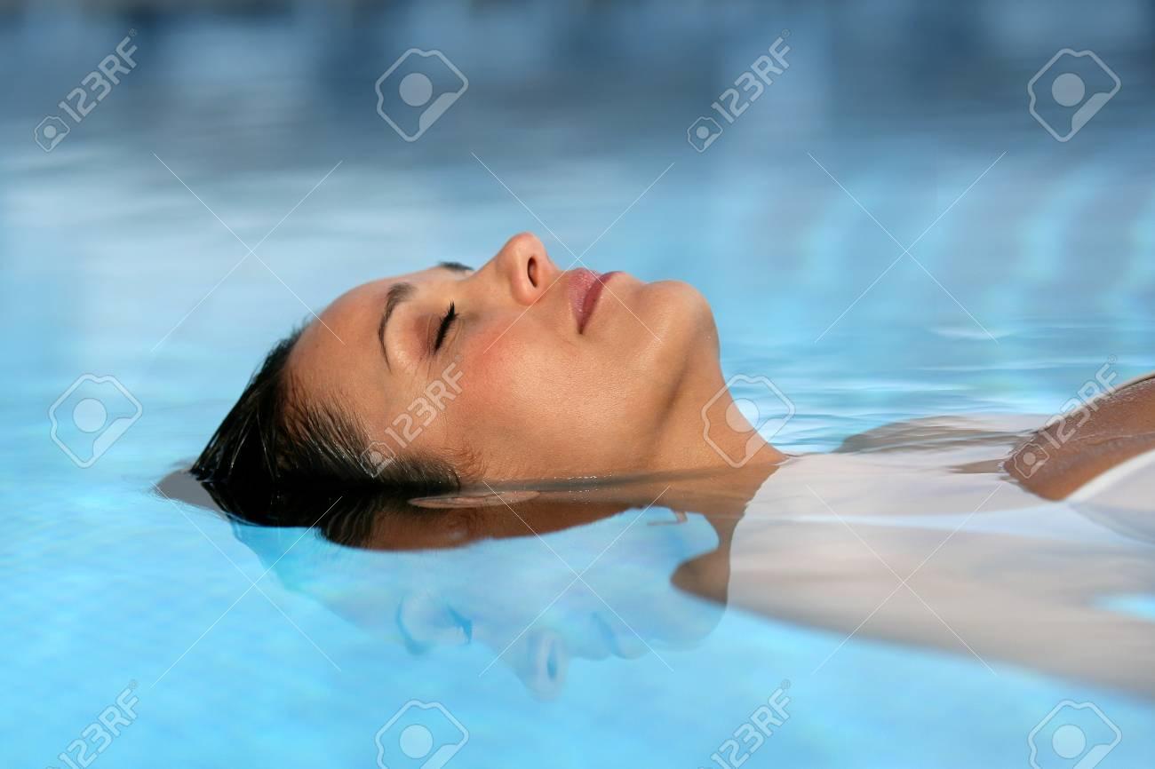 Woman lying in water Stock Photo - 13882907