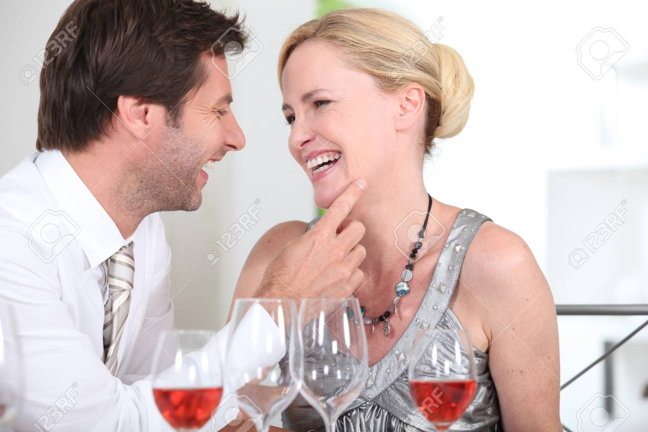 Couple at restaurant Stock Photo - 13960068