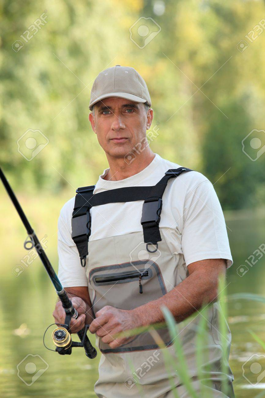 Man fishing Stock Photo - 13924855