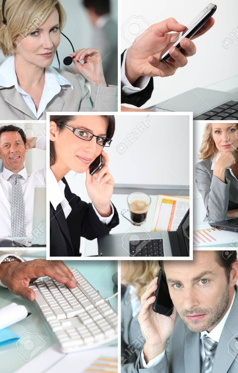 Business people at work Stock Photo - 14023263