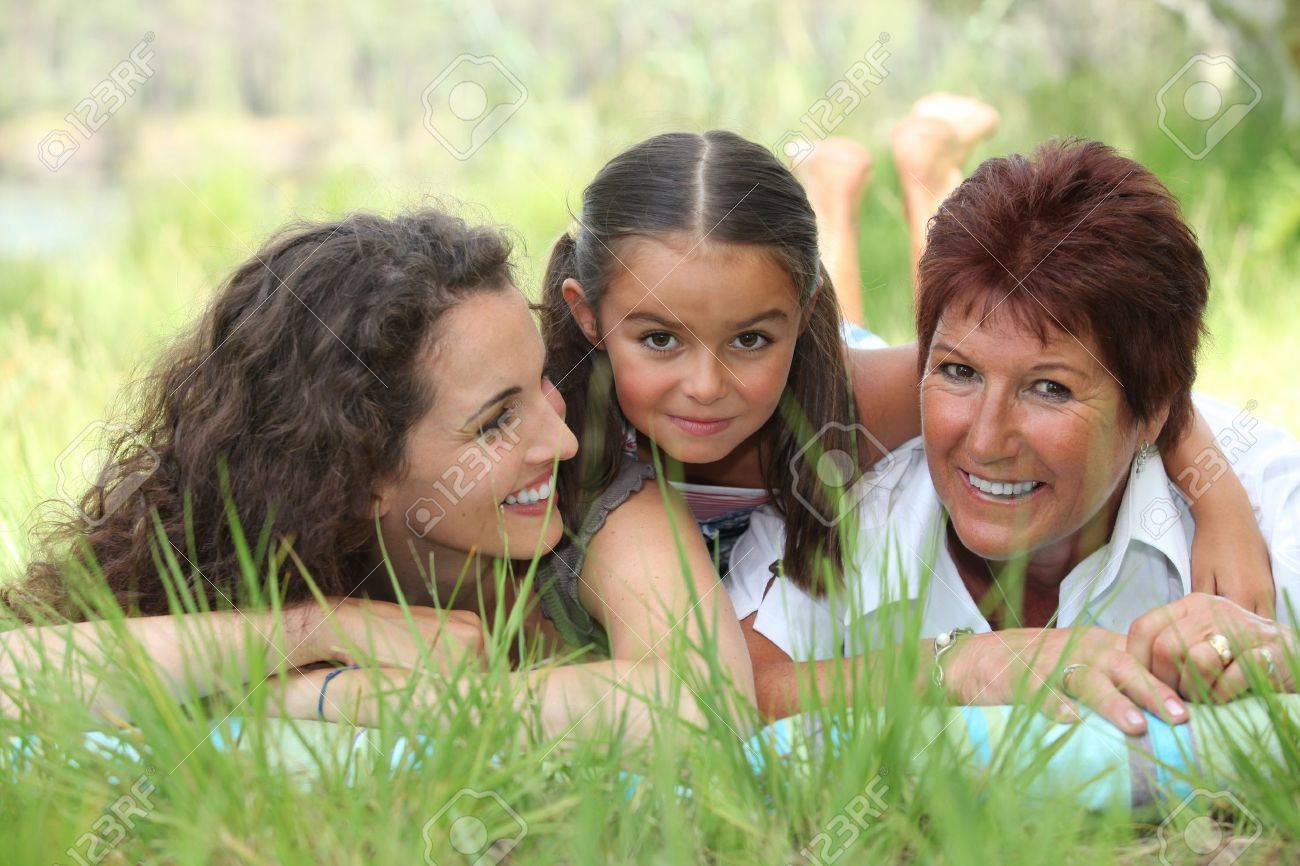 portrait of 3 generations Stock Photo - 14111792