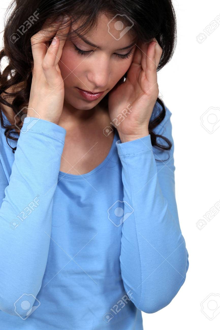 Woman suffering from a headache Stock Photo - 14195105