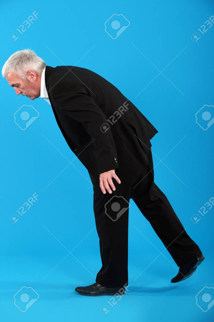 Businessman looking down Stock Photo - 14194955