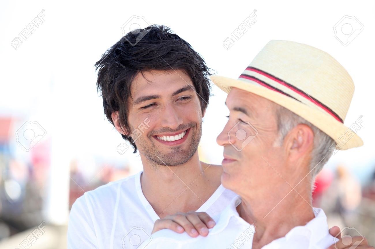 older man and younger man relationships Stock Photo - 14203965