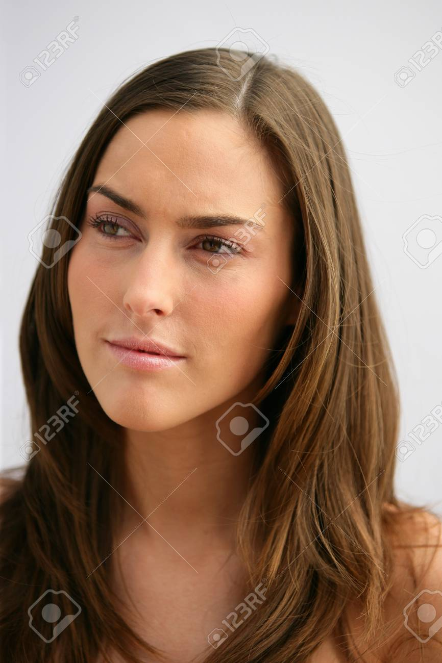 Woman with gorgeous brown hair Stock Photo - 14210898