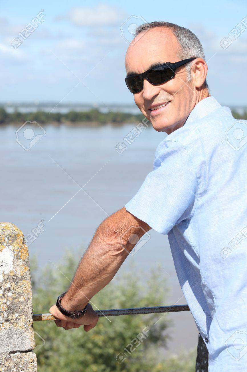 Middle-aged man on holiday abroad Stock Photo - 14214689