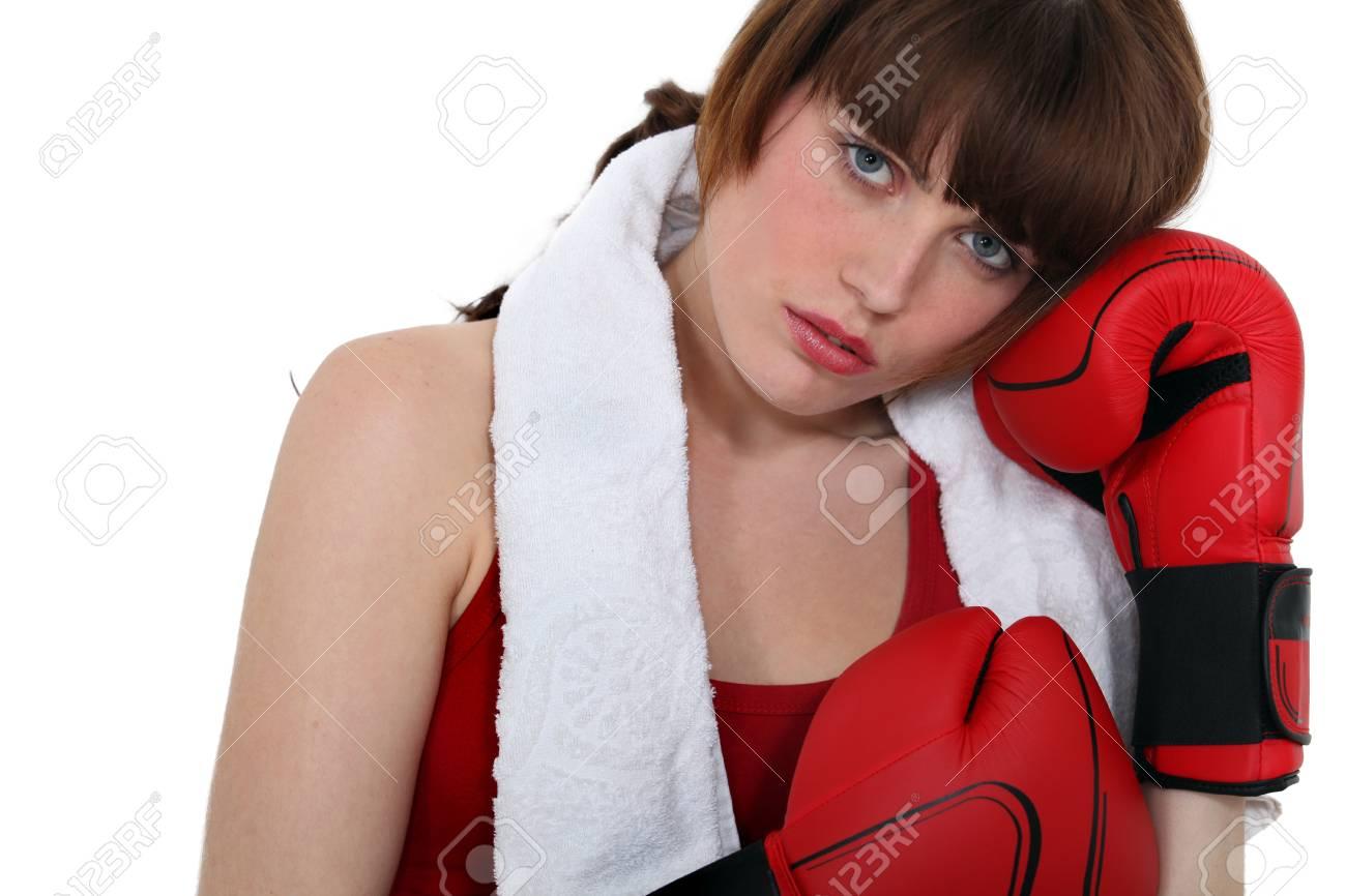 A female boxer Stock Photo - 14207506