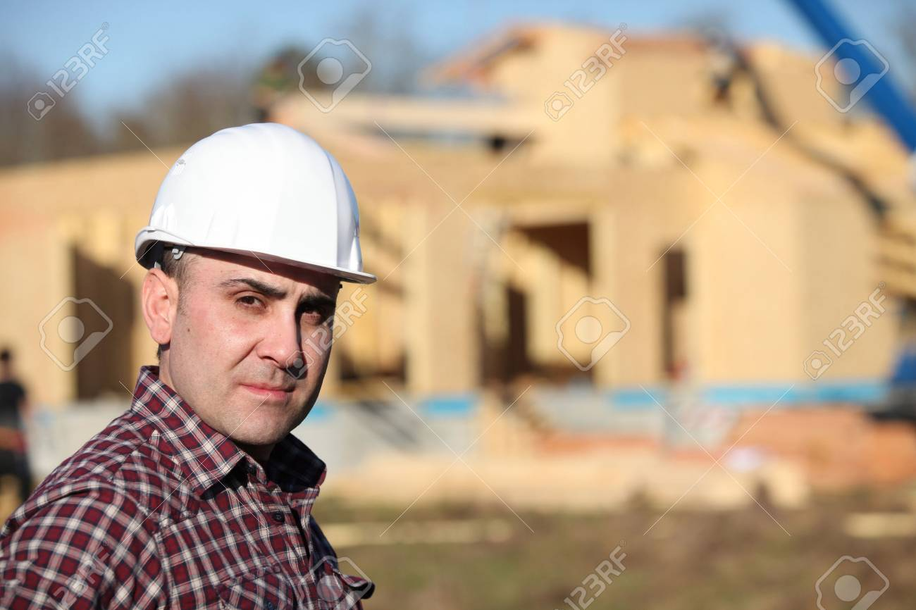 Construction worker on site Stock Photo - 14212770